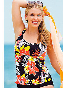 Lanai Flared Tankini Top by Beach Belle