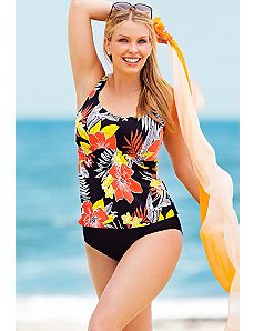 Lanai Flared Tankini by Beach Belle