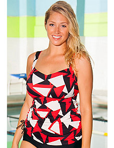 Chlorine Resistant Triangle Side Tie Tankini Top by Aquabelle