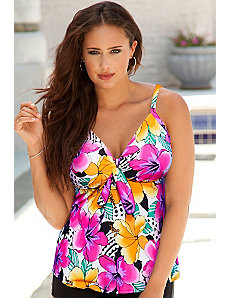 Hot Tropics Flared Tankini Top by Swim Sexy