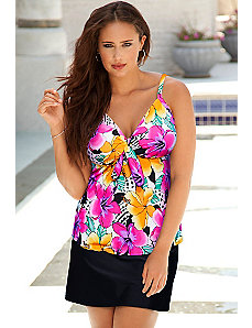 Hot Tropics Tie Front Slit Skirtini by Shore Club