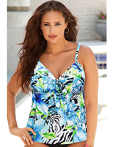Sanibel Flared Tankini Top by Swim Sexy