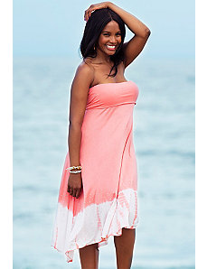 Pink Tie Dye Convertible Dress by s4a