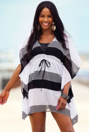 Baja Striped Poncho