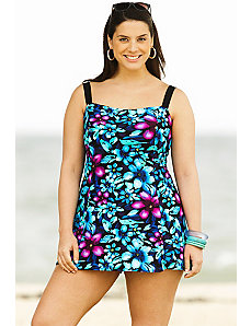 Moonflower Princess Seam Swimdress by Delta Burke