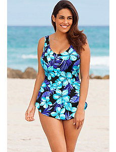 Tahiti Sarong Front Swimsuit by Beach Belle