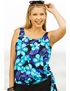 Tahiti Blouson Tankini Top by Beach Belle