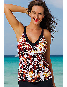 Sierra Vista V-Neck Sport Tankini Top by Shore Club