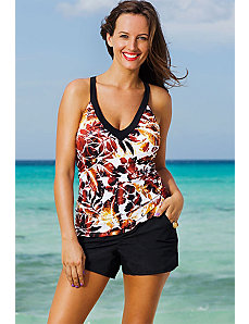 Sierra Vista V-Neck Sport Cargo Shortini by Shore Club
