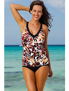 Sierra Vista V-Neck Sport Slit Tankini by Shore Club
