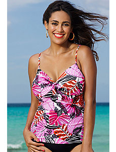 Santa Cruz Underwire Tie Front Tankini Top by Shore Club