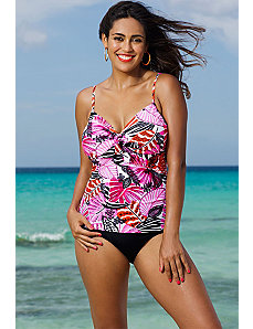 Santa Cruz Underwire Tie Front Tankini by Shore Club