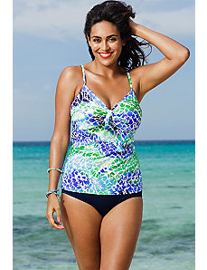 Oceanview Underwire Tie Front Tankini by Shore Club