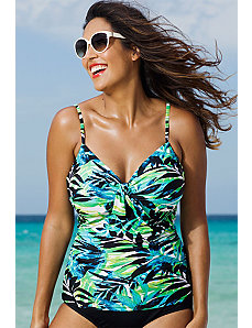 Margarita Underwire Tie Front Tankini Top by Shore Club