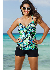 Margarita Underwire Tie Front Boy Shortini by Shore Club