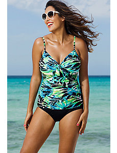 Margarita Underwire Tie Front Tankini by Shore Club