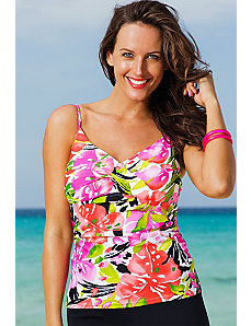 Isla Aves Twist Front Tankini Top by Shore Club