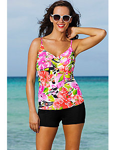 Isla Aves Twist Front Boy Shortini by Shore Club