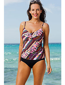 Chino Twist Front Tankini by Shore Club