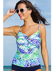 Oceanview Twist Front Tankini Top