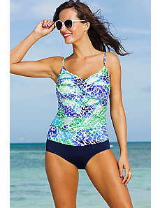 Oceanview Twist Front Tankini by Shore Club