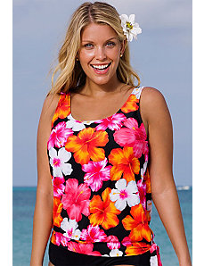 Huntington Blouson Tankini Top by Beach Belle