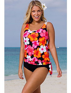 Huntington Blouson Tankini by Beach Belle