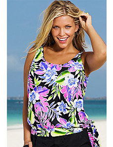 Brisbane Blouson Tankini Top by Beach Belle
