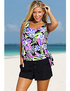 Brisbane Blouson Cargo Shortini by Beach Belle