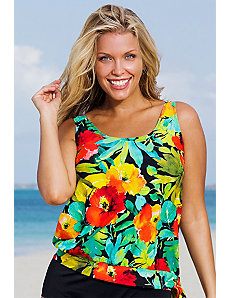 Botany Bay Blouson Tankini Top by Beach Belle