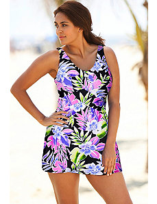 Brisbane V Neck Swimdress by Beach Belle