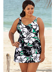 Delano V Neck Swimdress by Beach Belle