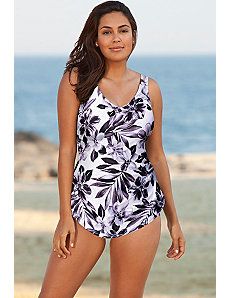 Lunar Sarong Front Swimsuit by Beach Belle