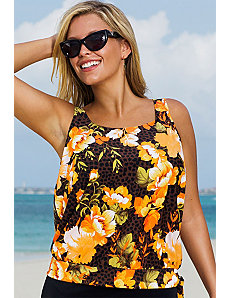 Malibu Blouson Tankini Top by Beach Belle