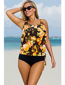 Malibu Blouson Tankini by Beach Belle