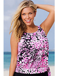 Desert Pea Blouson Tankini Top by Beach Belle