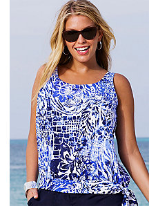 Maroubra Blouson Tankini Top by Beach Belle