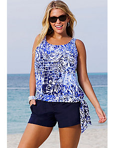 Maroubra Blouson Navy Cargo Shortini by Beach Belle