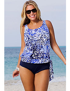 Maroubra Blouson Navy Tankini by Beach Belle