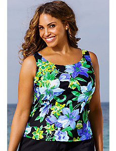 Fiesta Rose Tankini Top by Beach Belle