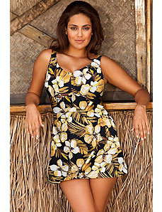 Jamaican Sunset V Neck Swimdress by Beach Belle
