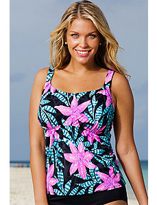 Del Mar Flared Tankini Top by Beach Belle