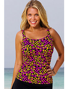 Costa Mesa Flared Tankini Top by Beach Belle