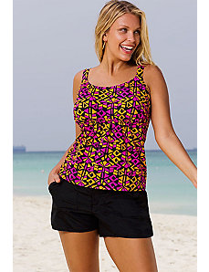 Costa Mesa Flared Cargo Shortini by Beach Belle