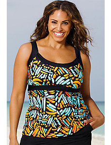 Encinitas Empire Tankini Top by Beach Belle