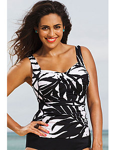 Phoenix Twist Front Tankini Top by Shore Club