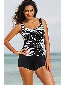 Phoenix Twist Front Shortini by Shore Club