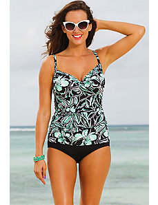 Trinity Beach Tab Front Tankini by Shore Club