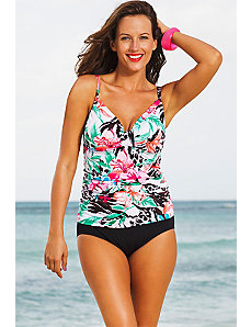 Coral Bay Tab Front Tankini by Shore Club
