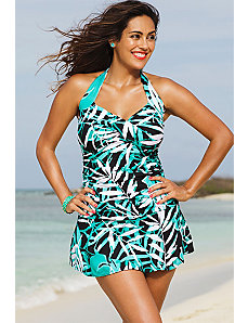 Palm Cove  Halter Swimdress by Shore Club